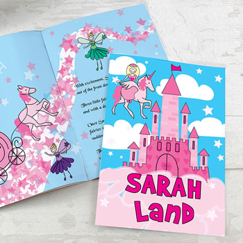 Girl's A4 Personalised Princess & Unicorn Story Book