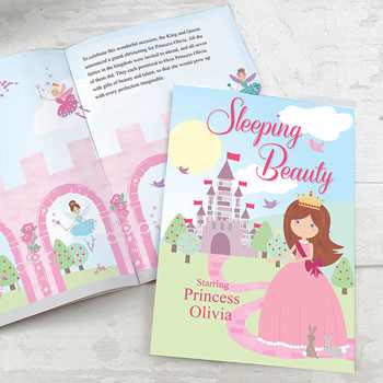 Girl's A4 Personalised Sleeping Beauty Story Book