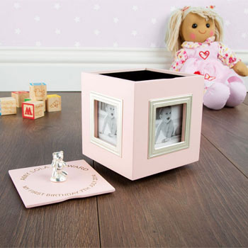 Personalised 1st Birthday Musical Keepsake Box Photo Frame