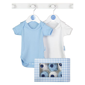 Now and Then Boxed Baby Clothes Cupcakes Blue
