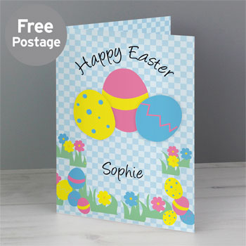 Children's Personalised Happy Easter Egg Card