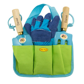 Boy's Personalised Blue Gardening Tool Kit