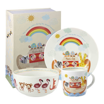 Noah S Ark 3 Piece China Breakfast Set