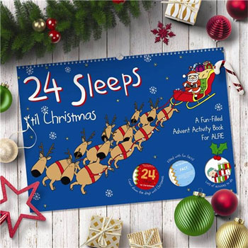 24 Sleeps til Christmas Personalised Advent Activity Book