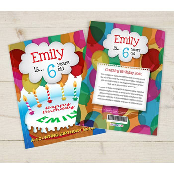 a personalised counting birthday book born gifted