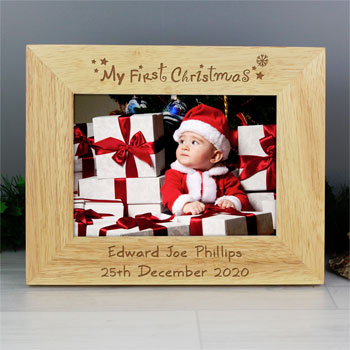 My First Christmas Oak 5 x 7 Inch Frame