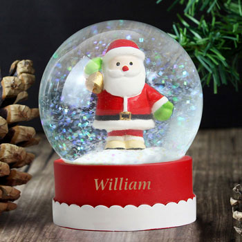 Personalised Santa Snow Globe Children's Christmas Keepsake