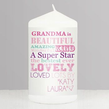 Personalised She Is... Candle - Mother's Day, Grandmothers