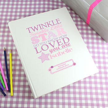 Twinkle Girl's Personalised Interleaved Baby Photo Album
