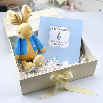 Personalised Peter Rabbit Book And Toy Baby Gift Set