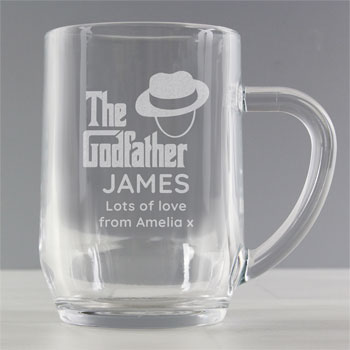 The Godfather Personalised Glass Tankard Appreciation Gift