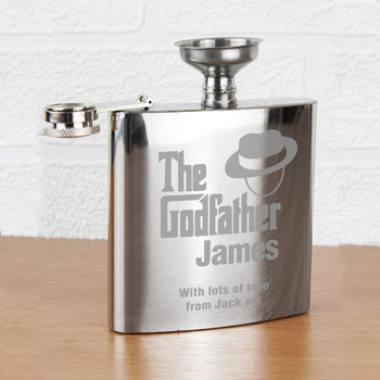 The Godfather Personalised Stainless Steel Hip Flask