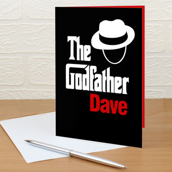 The Godfather Personalised Novelty Thank You Card