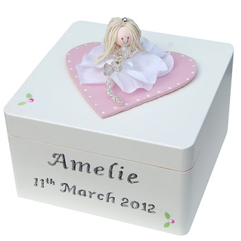 Girl's First Holy Communion Personalised Wooden Trinket Box