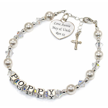 Christening Communion Confirmation Personalised Bracelet