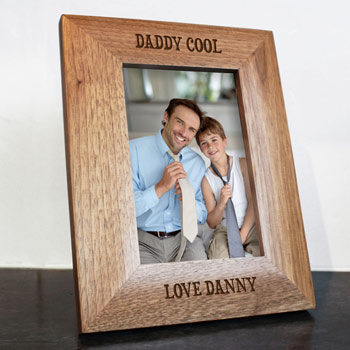 Daddy Cool Engraved Photo Frame 4x6 Inch Father's Day Gift