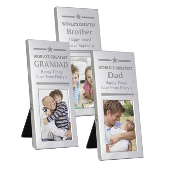 Personalised World's Greatest Luxury Small Silver Frame