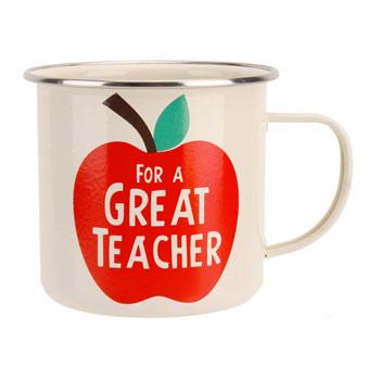 'For A Great Teacher' Apple Design Steel Mug