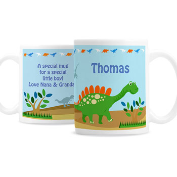 Personalised Ceramic Boy's Dinosaur Mug
