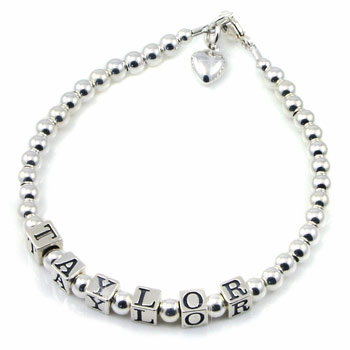Personalised Sterling Silver Name Bracelet