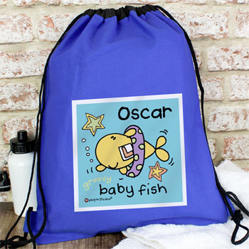 Personalised Baby Fish Boys Swim Bag