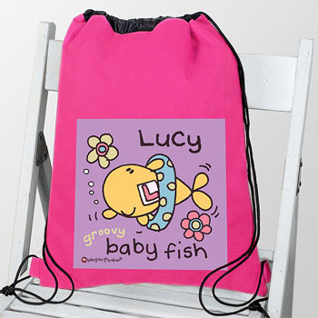 Personalised Baby Fish Girls Swim Bag