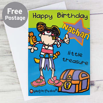 Boy's Personalised Little Treasure Birthday Card
