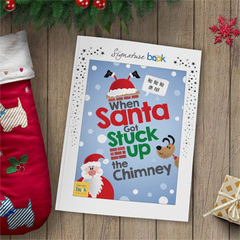 Personalised When Santa Got Stuck Up the Chimney Book