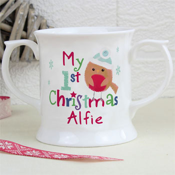 Felt Stitch Robin My 1st Christmas China Baby Loving Mug