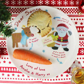 Felt Stitch Friends Personalised China Mince Pie Xmas Plate