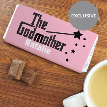 The Godmother Personalised Milk Chocolate Bar Gift Idea