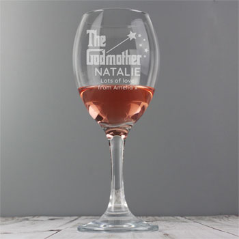 The Godmother Personalised Wine Glass Thank You Gift