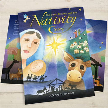Personalised Nativity Christmas Story Book
