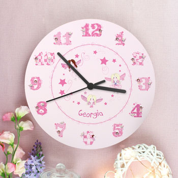 Personalised Ceramic Fairy Clock