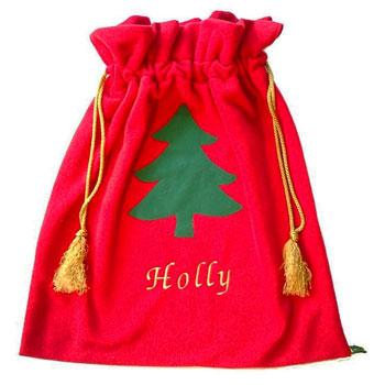 Christmas Fleece.Personalised Red Fleece Child S Christmas Santa Sack
