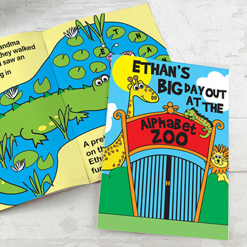 Personalised Zoo Children's A4 Story Book