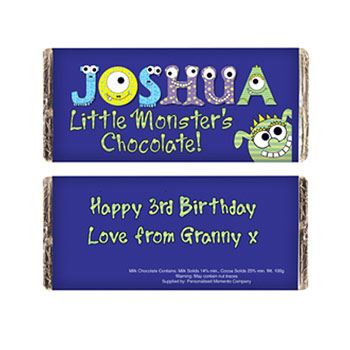 Personalised Little Monster Chocolate Bar