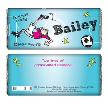Personalised Football Crazy Chocolate Bar