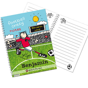 Personalised Football Crazy A5 Notebook