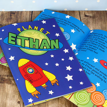 Children's Personalised Space Themed A4 Story Book