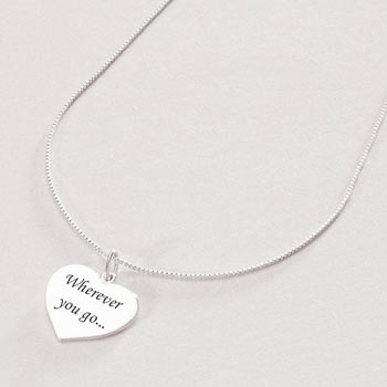 Personalised Engraved Women's Sterling Silver Heart Necklace
