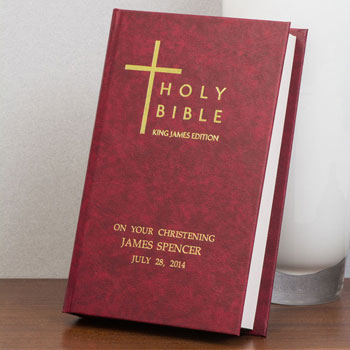 Burgundy Personalised Bible - King James Version