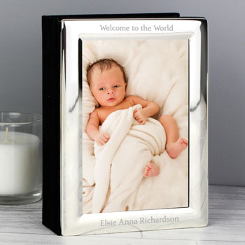 Personalised Silver Photo Frame Album