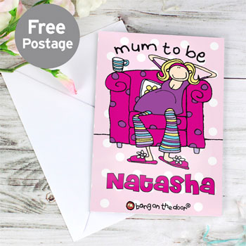 Personalised Mum to Be Card by Bang on the Door