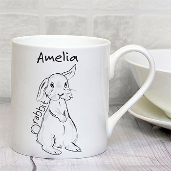 Personalised Scribble Bunny Mug Exclusive