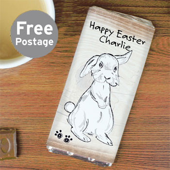 Children's Personalised Scribble Bunny Milk Chocolate Bar