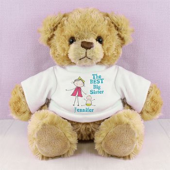 Personalised Best Big Sister Teddy Bear Exclusive Design