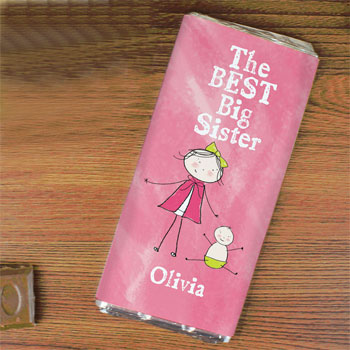 Personalised Best Big Sister Milk Chocolate Bar Exclusive