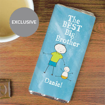 Personalised Best Big Brother Milk Chocolate Bar Exclusive