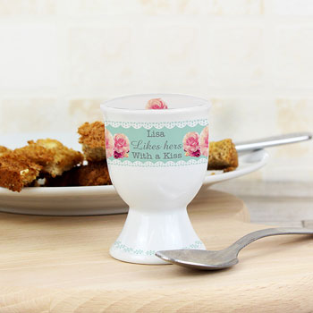 Personalised Vintage Rose China Egg Cup